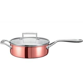 KITCHENAID réz serpenyő fedővel 24cm